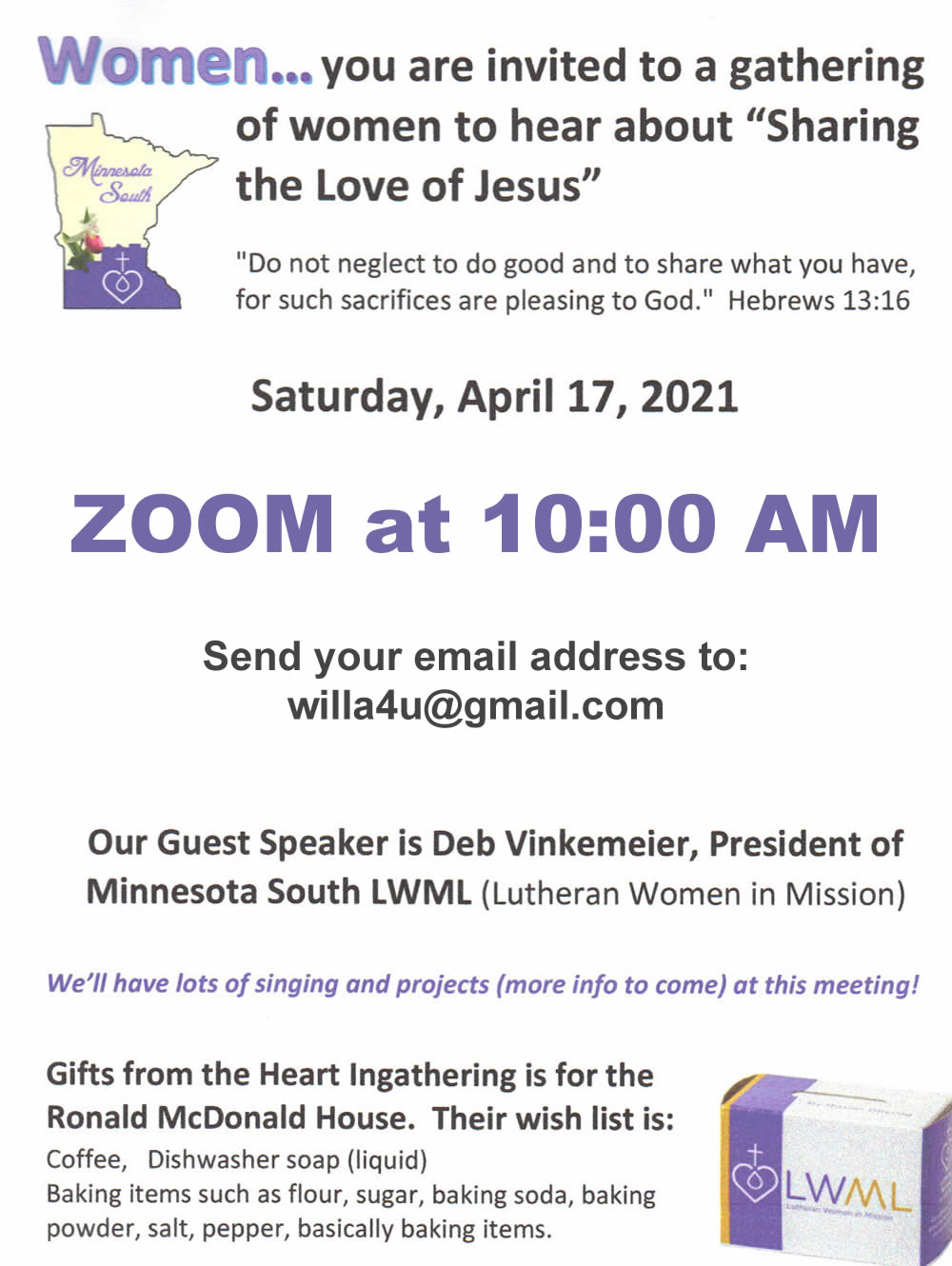 "LWML - ""Sharing the Love of Jesus"""